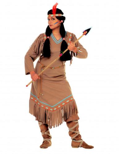 Disfraz de india largo para mujer-1
