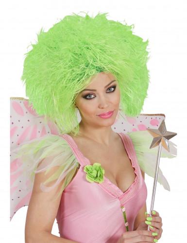 Peluca verde fluorescente para mujer