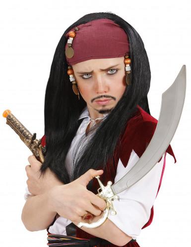 Peluca de pirata para hombre