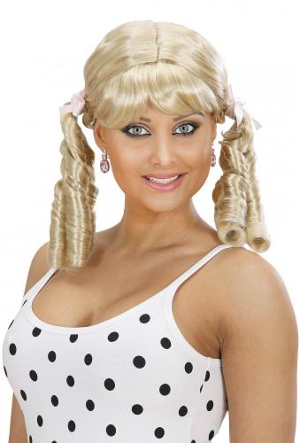 Peluca rubia de lolita para mujer