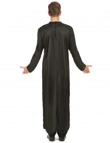 Disfraz de cura para hombre cuello V-2