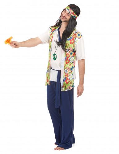 Disfraz de hippie para hombre tonos florales-1