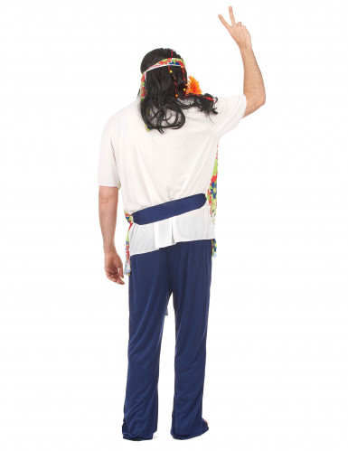 Disfraz de hippie para hombre tonos florales-2