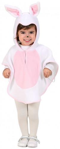 Disfraz de coneja con poncho para niña