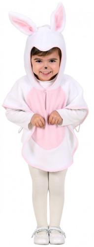 Disfraz de coneja con poncho para niña-1