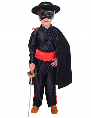 Disfraz de justiciero enmascarado para niño negro