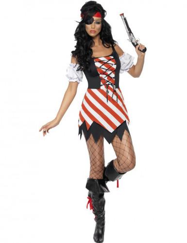 Disfraz de pirata para mujer bustier