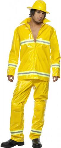 Disfraz de bombero amarillo para hombre