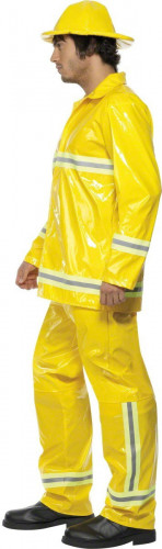 Disfraz de bombero amarillo para hombre-2