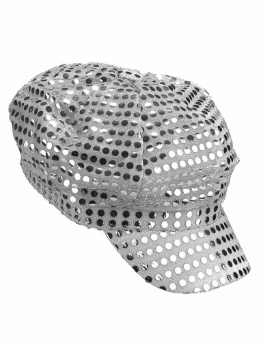 Gorra plateada estilo disco-1
