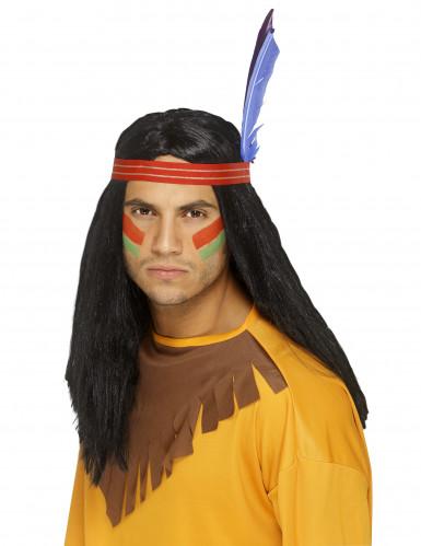 Peluca de indio para hombre