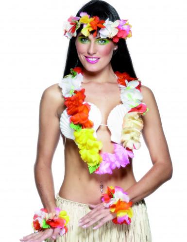 Kit hawaiano multicolor para mujer