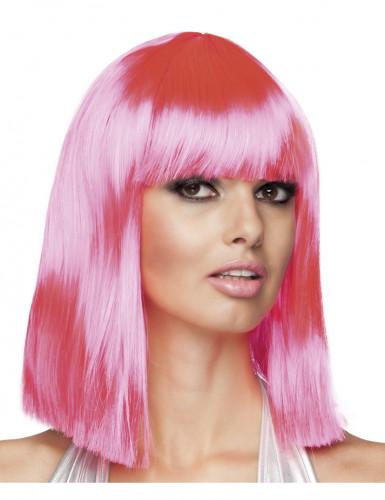 Peluca rosa mujer