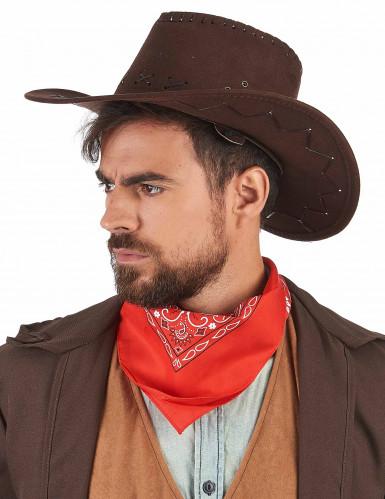 Sombrero marrón de vaquero adulto -1