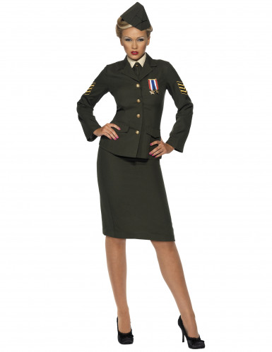 Disfraz de oficial militar para mujer