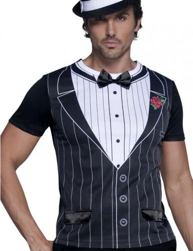 Camiseta de gánster para hombre