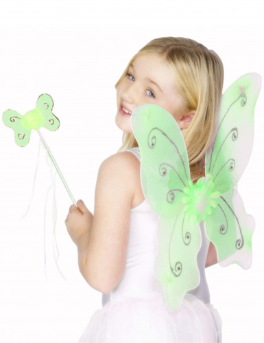 Kit de mariposa verde para niña