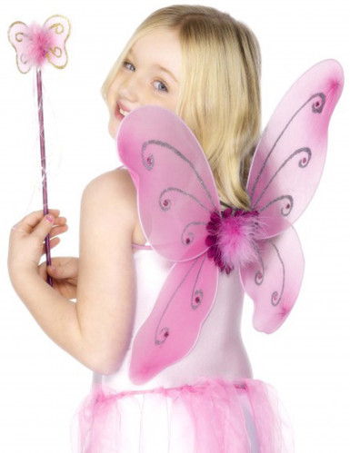 Kit de mariposa rosa para niña