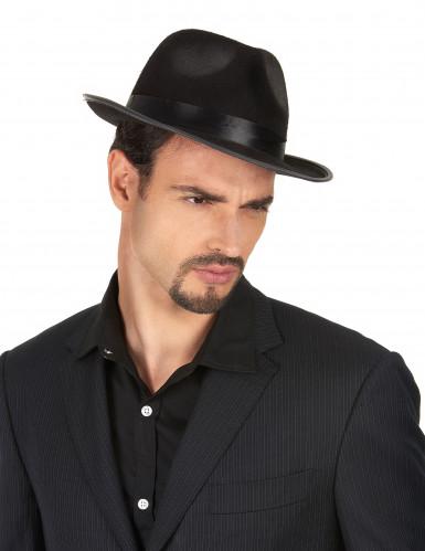 Sombrero negro de gánster-1