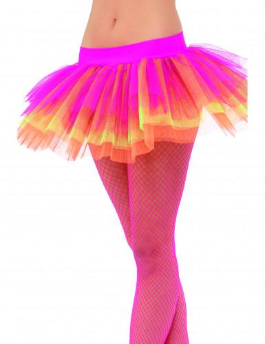 Tutú rosa, amarillo y naranja para mujer