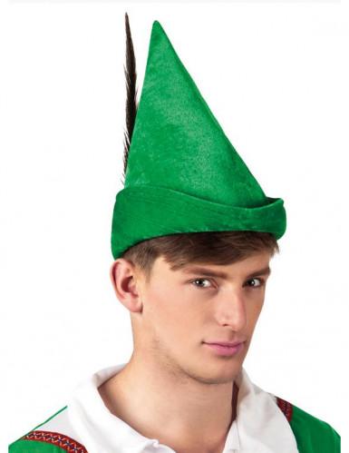 Sombrero verde de hombre del bosque