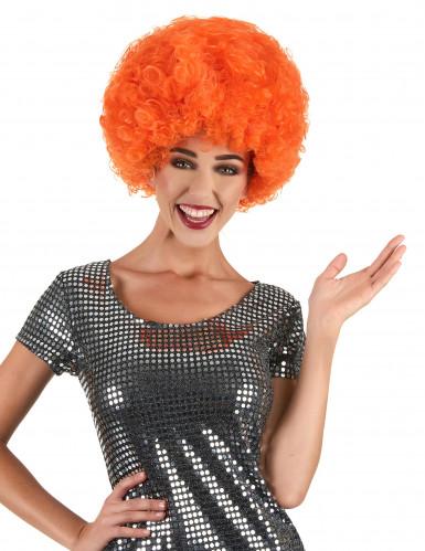 Peluca estilo afro naranja