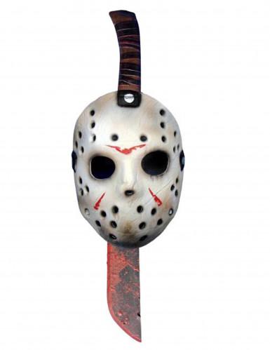 Máscara y machete de Jason™ Viernes 13™