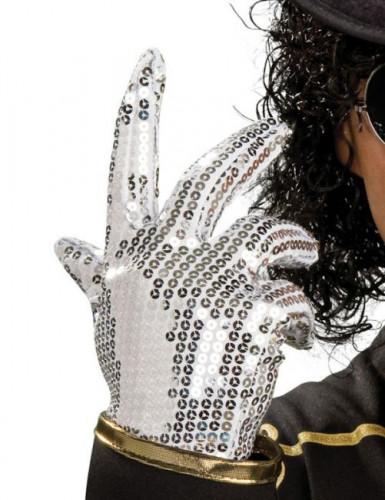 Guante de Michael Jackson™ con lentejuelas plateadas para niño