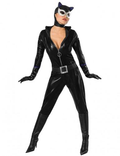 Disfraz de Catwoman™ con máscara para mujer