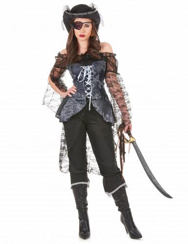Disfraz de capitana buscatesoros para mujer