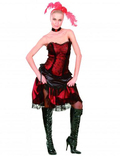 Disfraz de cabaré de saloon para mujer