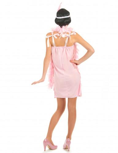 Disfraz rosa de los años 20 para mujer-2