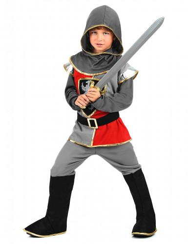 Disfraz de caballero para niño escudo león-1