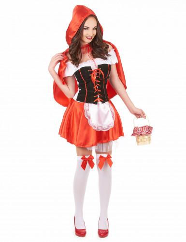 Disfraz de Caperucita roja corset para mujer