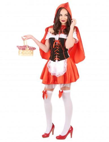 Disfraz de Caperucita roja corset para mujer-1