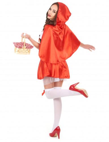 Disfraz de Caperucita roja corset para mujer-2