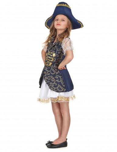 Disfraz de pirata para niña azul-1