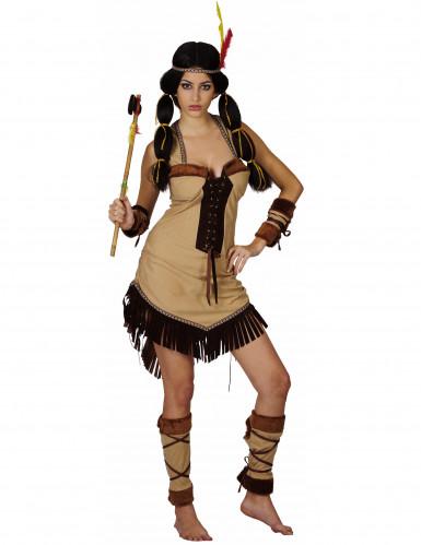 Disfraz de india de lujo para mujer