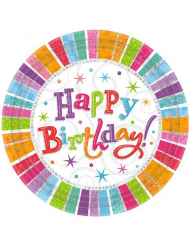 Platos Happy Birthday 23 cm