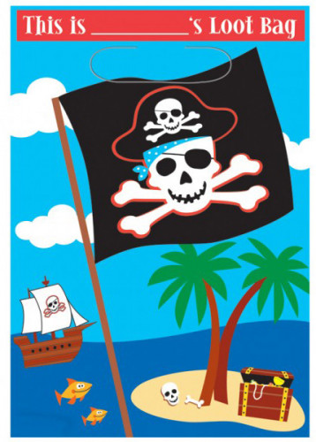 Bolsa pirata de gala 16,5 x 25 cm