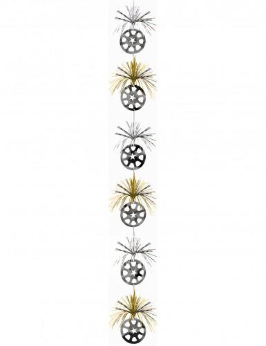 Artículos decorativos para colgar de color dorado y plateado