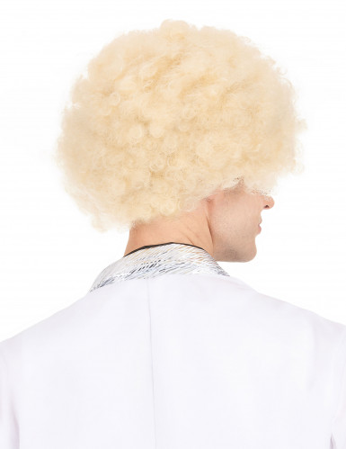 Peluca afro rubia-2