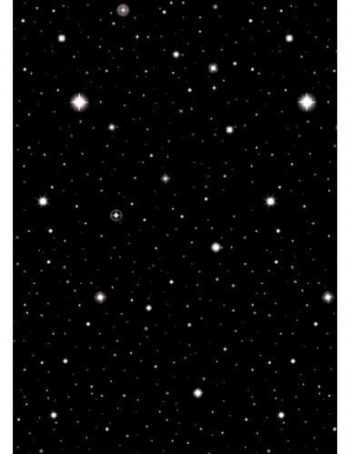 Rollo decorativo estilo noche estrellada