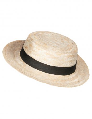 Sombrero de paja Lou Bandy para adulto-1