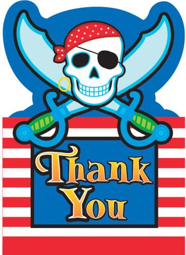 Tarjeta de agradecimiento estilo pirata