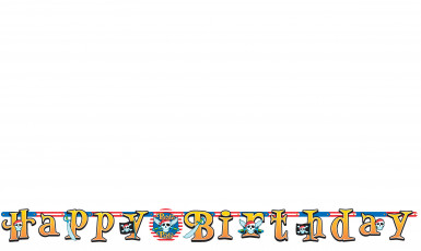 Pancarta Happy Birthday pirata