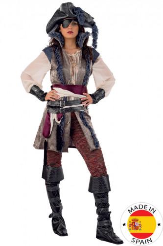 Disfraz de pirata de lujo para mujer - Premium