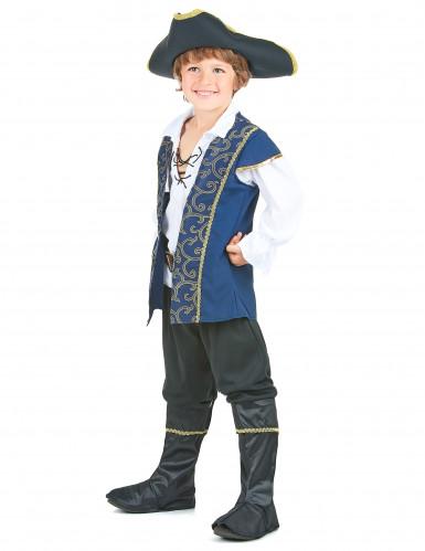 Disfraz de pirata para niño azul-1