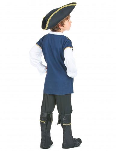 Disfraz de pirata para niño azul-2