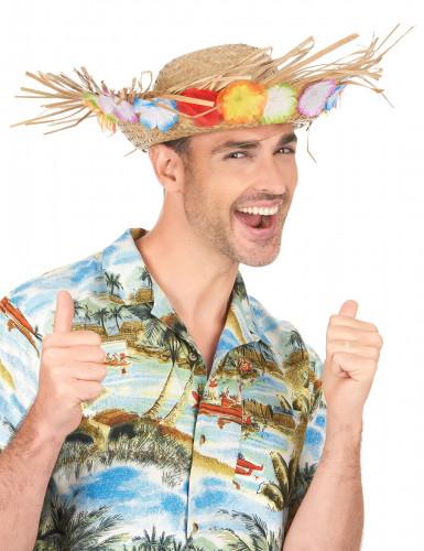 Sombrero de paja con flores-2